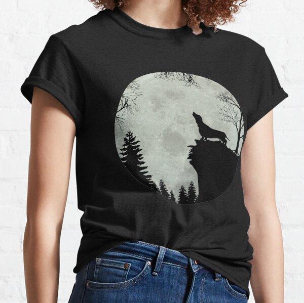 Dachshund Teckel Dachshund moon Classic T-Shirt