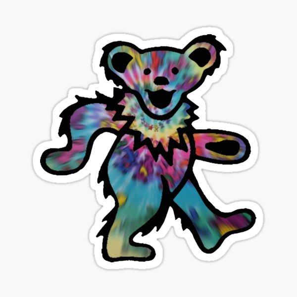 Tie Dye Blur GD Bear Sticker