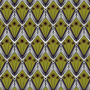 Art Deco Nature Pattern by DuemmelDoodles