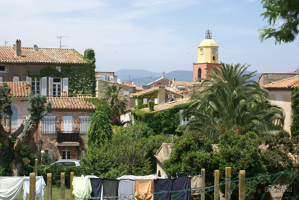 St Tropez communal wash house and lawns by BronReid