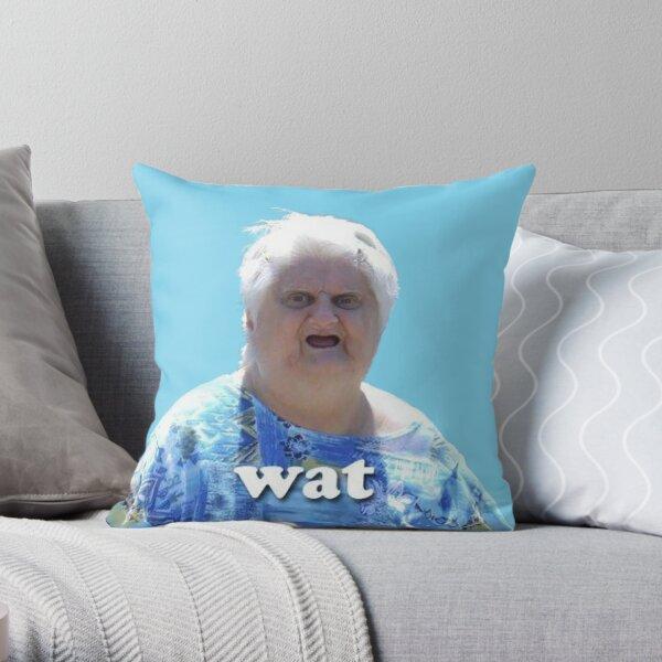 Mature woman meme nude Old Woman Meme Pillows Cushions Redbubble