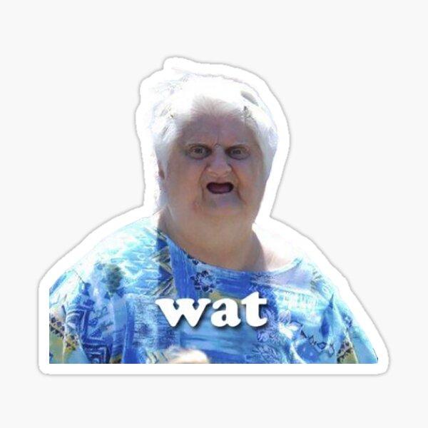 Mature woman meme nude Old Woman Meme Stickers Redbubble
