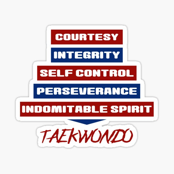 Tenets of Taekwondo Sticker