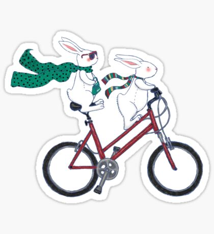biking bunnies  Sticker
