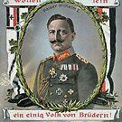 Kaiser Wilhelm II patriotic WWI card by edsimoneit