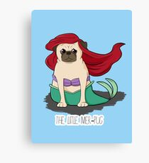The Little Mer-Pug Canvas Print
