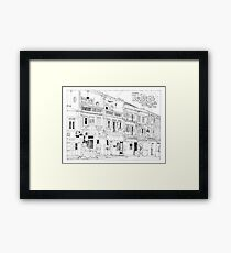 Streetscape Singapore Framed Print