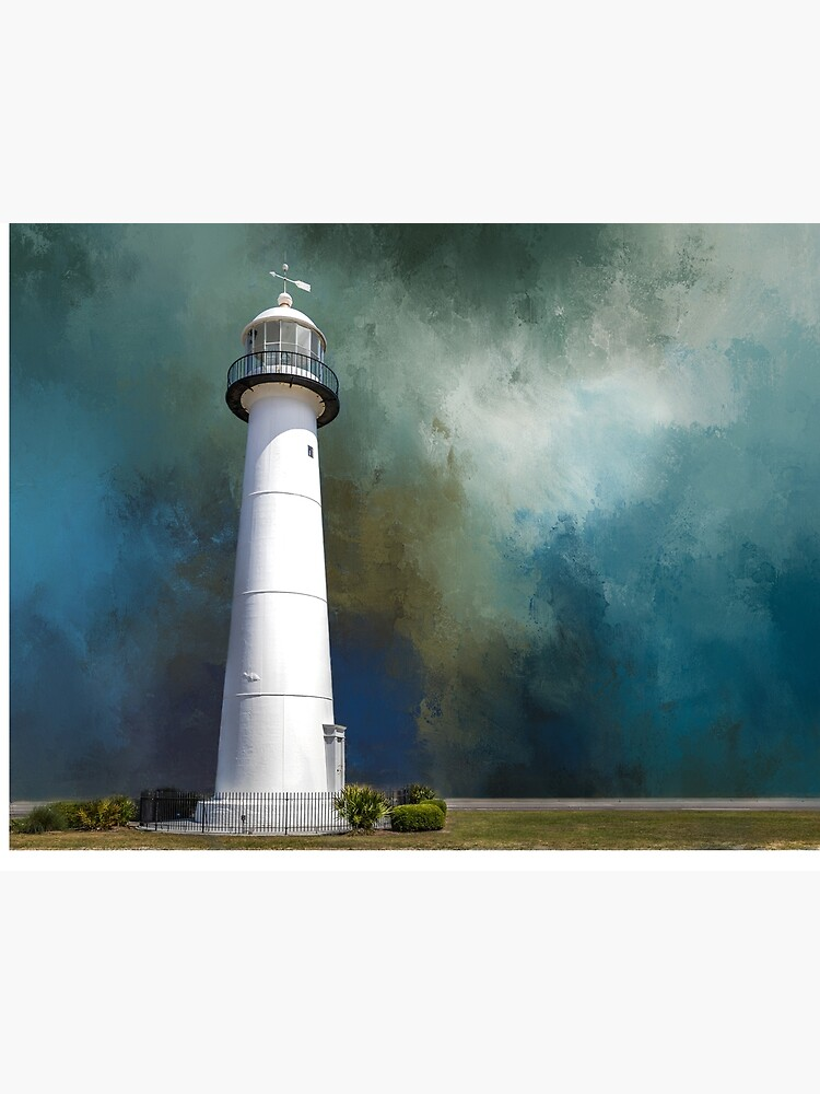 Biloxi Lighthouse Art Board Print By Espinner Redbubble