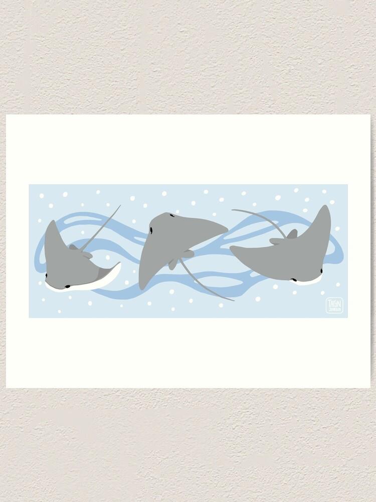 Alternate view of Stingrays - Cownose Ray - Sticker Pack Art Print