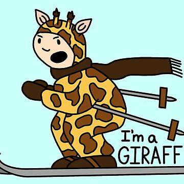 I'm A Giraffe by Stickers-By-Sam