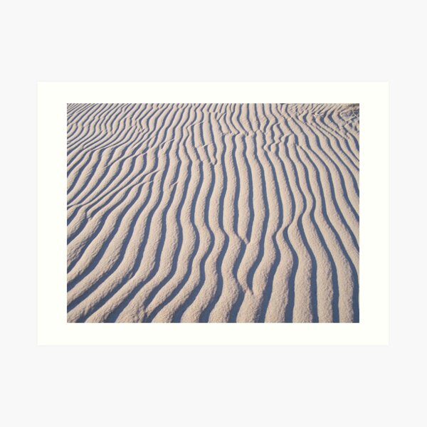 Ocracoke Beach Patterns Art Print