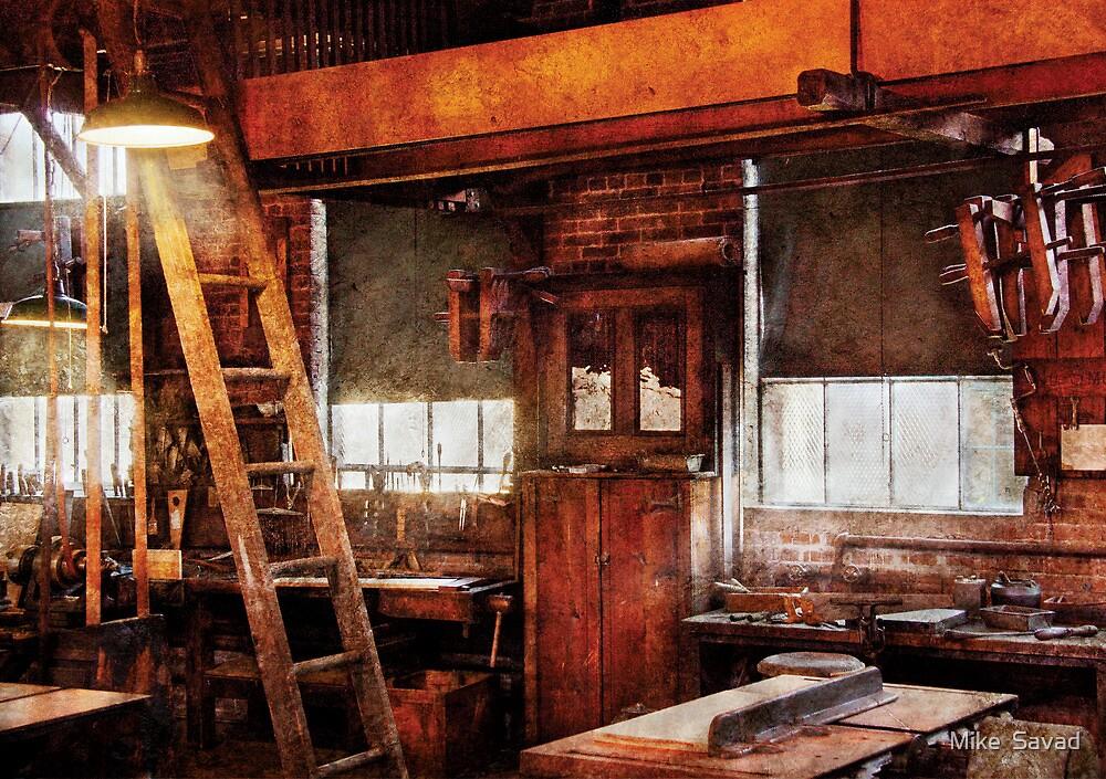 Woodworker - Old Workshop by Michael Savad