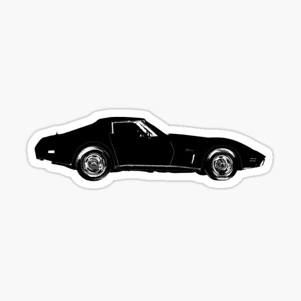 C3 Corvette Silhouette Sticker