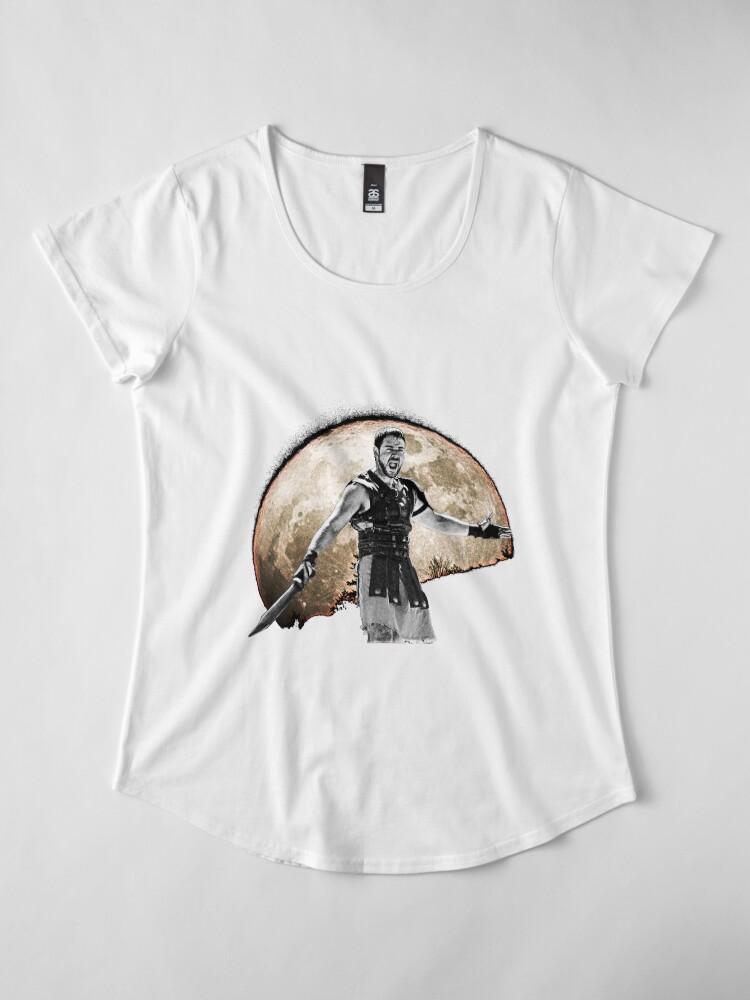 Alternate view of Maximus Decimus Meridius Premium Scoop T-Shirt