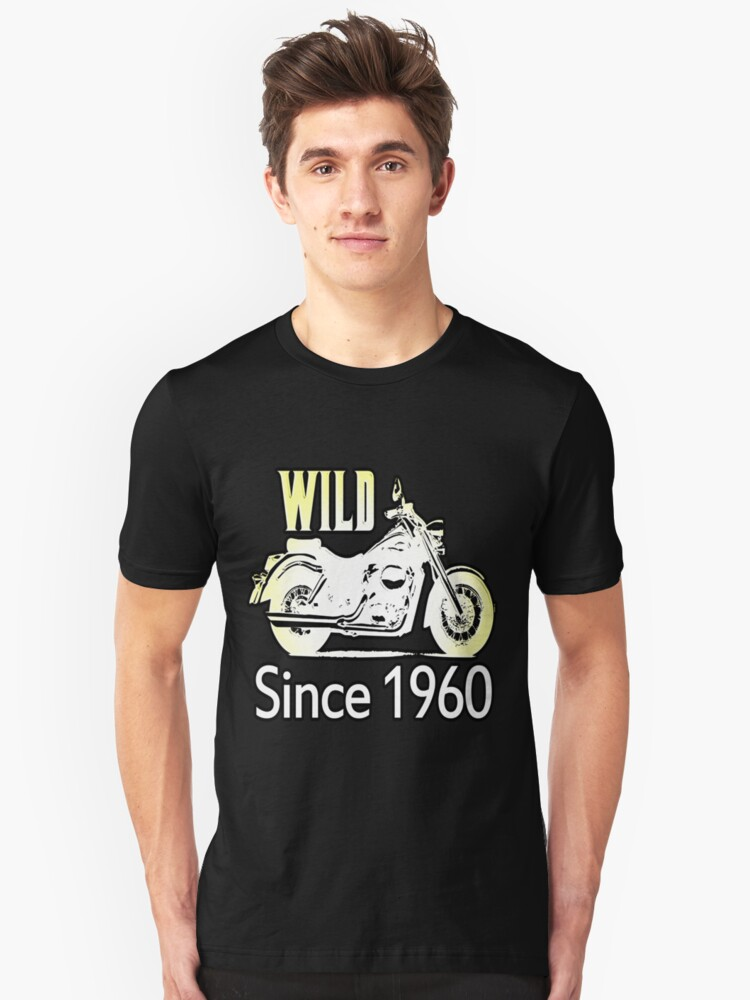 50th Birthday Gifts, Wild Since 1960! Unisex T-Shirt Front
