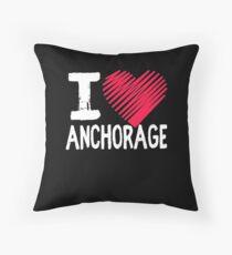 Ich liebe Achorage Alaska Tourism Gift Bodenkissen