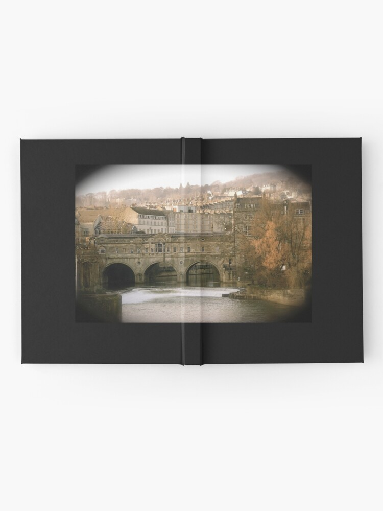 Alternate view of Pulteney Bridge crossing the river Avon in Bath, Somerset County, England Hardcover Journal
