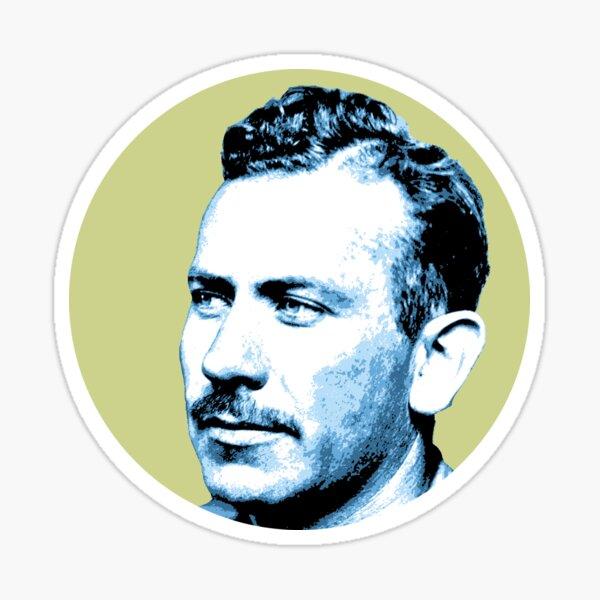 John Steinbeck Blue Green Portrait Sticker