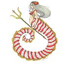Candy Cane Mermaid  by Ciarra-13