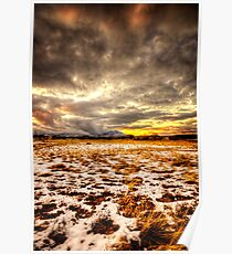 Snow and Clouds Sunset Poster