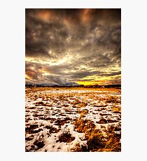 Snow and Clouds Sunset Photographic Print