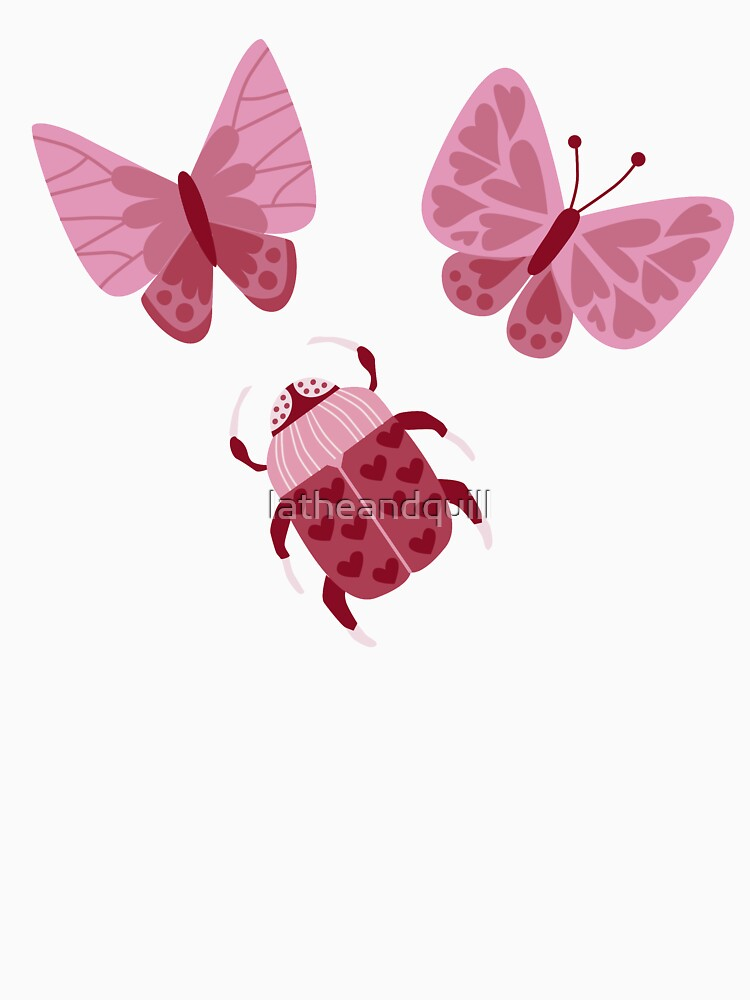 Love Bugs in Pink + Red by latheandquill