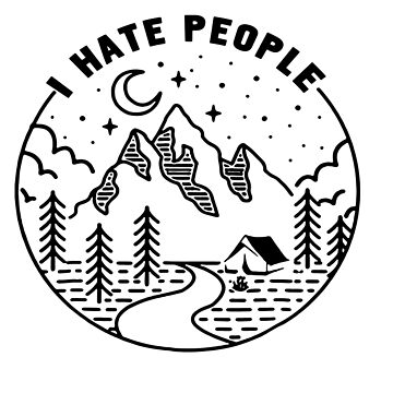 I Hate People - Funny Travel by made-for-you