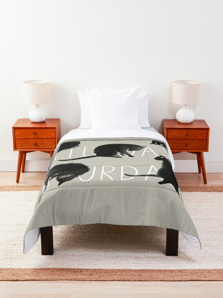 Alternate view of Caturdays - Black Cat Comforter