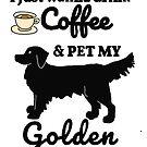Pet dog Golden Retriever by Epic Splash Creations