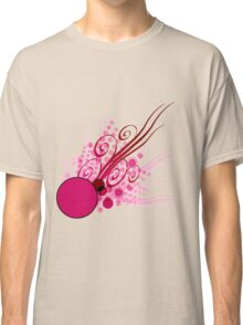 Abstract Digital Pink Bubbles Classic T-Shirt