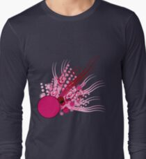 Abstract Digital Pink Bubbles Long Sleeve T-Shirt