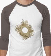 Abstract Digital Baroque Swirls Men's Baseball ¾ T-Shirt