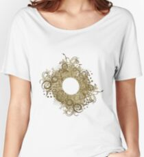 Abstract Digital Baroque Swirls Women's Relaxed Fit T-Shirt