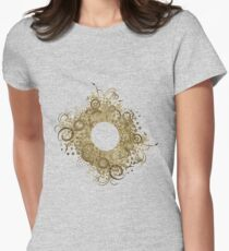 Abstract Digital Baroque Swirls Womens Fitted T-Shirt