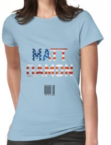 Matt Damon Womens Fitted T-Shirt