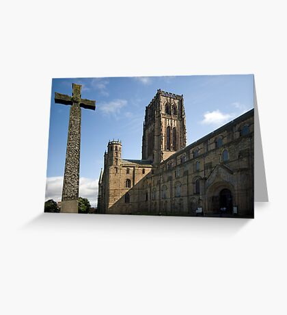Durham Cathedral and The Cross Greeting Card
