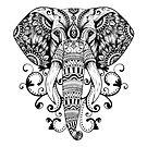Elefant-Mandala von KingJames27x
