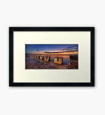 "Merewether Baths, Newcastle - ""Before Sunrise"" Framed Print"