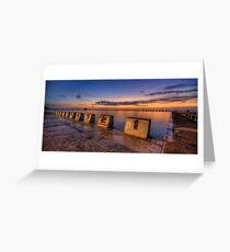 "Merewether Baths, Newcastle - ""Before Sunrise"" Greeting Card"