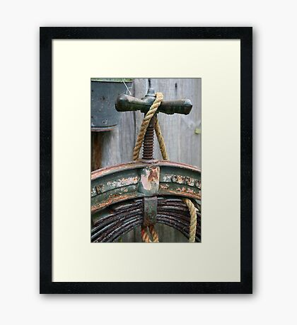 Twisted and layered Framed Print
