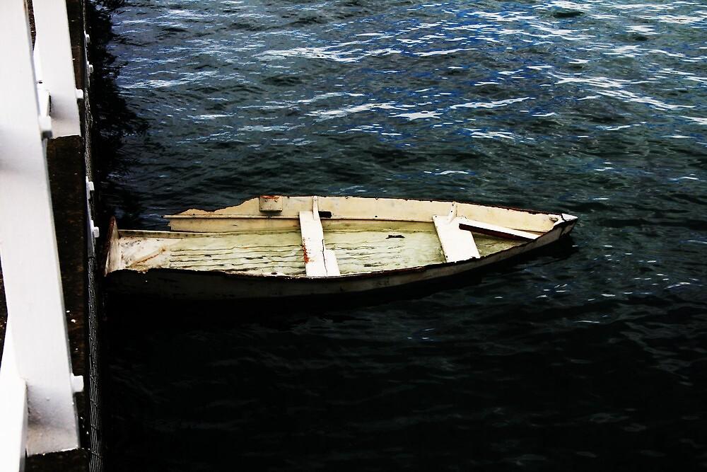 lone boat by Matthew  Smith