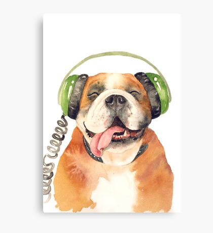Jeremiah Was a Bulldog Canvas Print