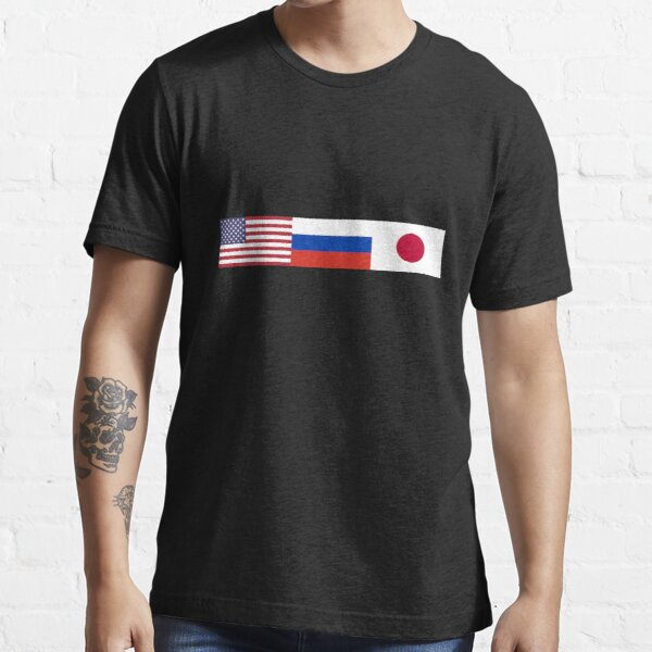 America, Russia and Japan Flags Fasion T-Shirt Essential T-Shirt