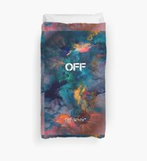 Galaxy Smoke Color Off White Duvet Cover