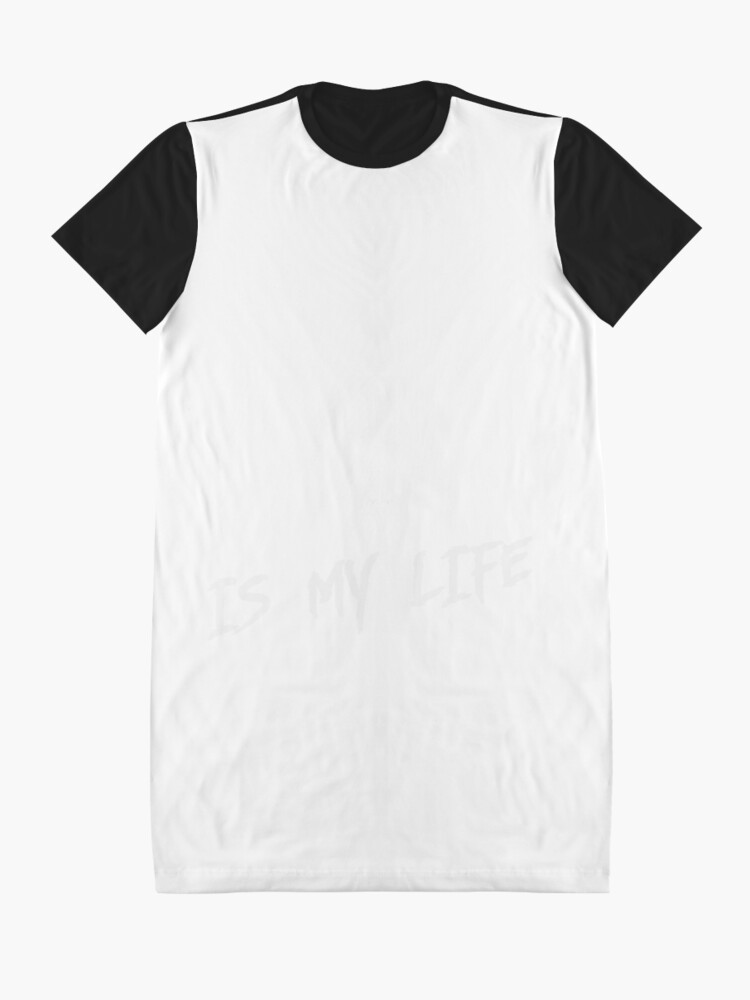 Alternate view of Cycling is my life Graphic T-Shirt Dress