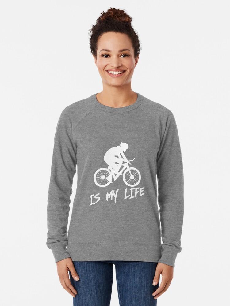 Alternate view of Cycling is my life Lightweight Sweatshirt
