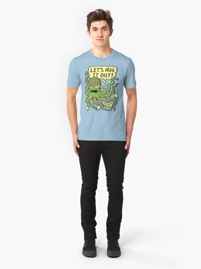 Alternate view of Lets Hug It Out Slim Fit T-Shirt