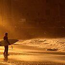 Surfers in a Sunbeam by Alex  Bramwell