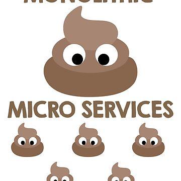 Monolith vs Microservices Funny Developer design by tshirtfandom