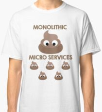 Monolith vs Microservices Funny Developer design Classic T-Shirt